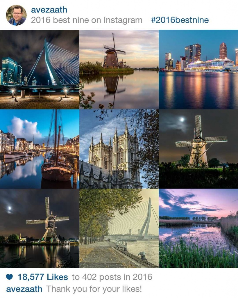 Best Nine Instagram 2016 Henri van Avezaath